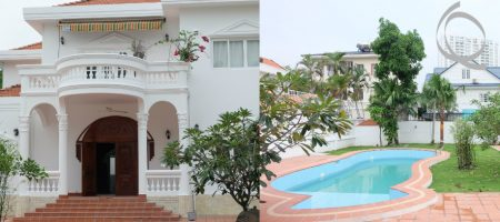 New villa in compound for rent, with 5bedrooms includes garden and pool