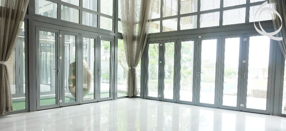Modern Villa in Thao Dien for rent, big garden with swimming pool and river view