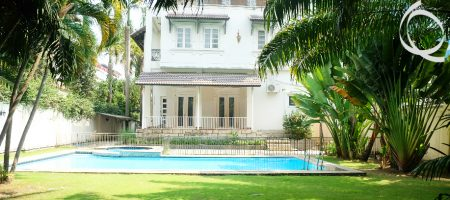 Perfect villa 8bedrooms with pool and garden for rent at Thao Dien