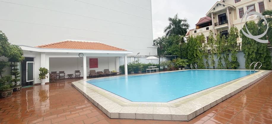Villa in compound 4bedrooms with poor and garden for rent